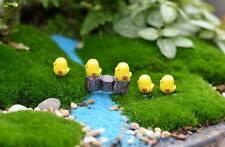 10pcs Mini Yellow Chicks Garden Ornament Miniature Plant Pots Fairy Dollhouse