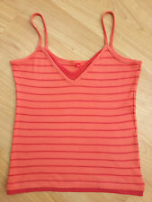 ESPRIT Woman's Orange Red Spaghetti Strap fashion top size M bargain RRP£22