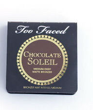 Too Faced Chocolate Soleil Matte Bronzer Medium/Deep 0.08 oz Travel Size SEALED