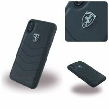 Ferrari Heritage Quilted Echt Leder Hardcover Case Schutzhülle Für iPhone XS X