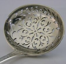 RARE ENGLISH EXETER STERLING SILVER SUGAR SIFTER SPOON 1864 ANTIQUE