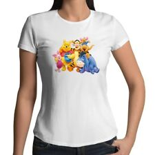 Winnie the Pooh Piglet Tigger Eeyore Roo Disney Womens Juniors Girls Tee T-Shirt
