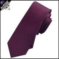 MENS Maroon / Deep Burgundy Skinny Necktie Queensland Maroons colour tie