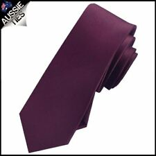 MENS Maroon / Deep Burgundy Skinny Necktie Queensland Maroons colour tie