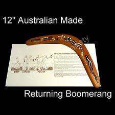 "Australia Made Returning Boomerang Crocodile Kangaroo Aboriginal Dot Design 12"""