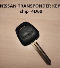 NISSAN TRANSPONDER KEY FOR PATHFINDER SKYLINE S15 X-TRAIL PATROL PULSAR NAVARA