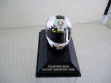 Minichamps 1.8th SCALA VALENTINO ROSSI AGV HELMET BARCELONA MOTOGP 2008.