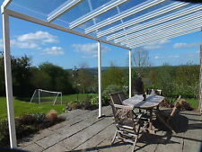 Aluminium Glass Clear Canopy, Patio cover, Carport, Caravan Cover - 2.1 M x 1.5M