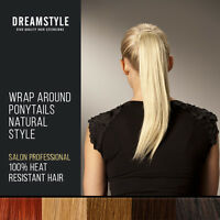 Clearance Clip In Ponytail Hair Extensions Wrap Around PonyTail Hair Pieces