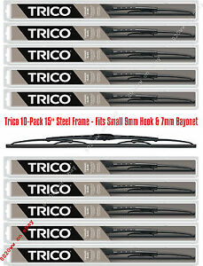 """10-Pack 15"""" Steel Frame Wiper Blades Trico 30-150 x 10 (30-150WD Master Pack)"""