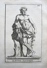 STATUE DU POÈME SATIRIQUE MÄNNLICHE ALLEGORIE S.THOMASSIN 1694 VERSAILLES