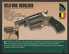 VELO-DOG REVOLVER 5.5mm Gun Firearms PHOTO CARD Cyclists Defense Against Dogs