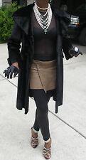 Designer Stylish black Birger Christensen Pony fur coat  Stroller Xs-S 0-6