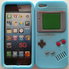 FUNDA CARCASA DE SILICONA CELESTE RETRO GAMEBOY PARA IPHONE SE/5/5S SILICON CASE
