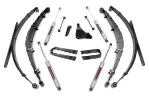 """Rough Country Ford F250 F350 Super Duty 6"""" Susp Lift Kit w/Leaf Springs 1999-04"""