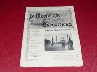 [REVUE EXPOSITION UNIVERSELLE 1900] LE MONITEUR DE 1900 N° 65 #  NOVEMBRE 1899