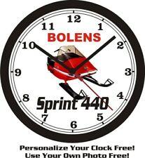 Bolens Sprint 440 Snowmobile Wall Clock-Free Us Ship-Polaris, Arctic Cat, Can Am
