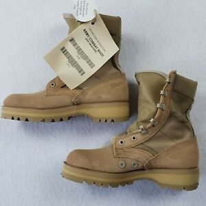 New w/Box Vibram Hot Weather Combat Boots Made In USA Desert Tan Size 4.5 R