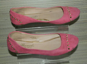 PEACOCKS  WOMEN CORAL PINK  SLIP ON FLAT SHOES Size:6/39 (WS46)