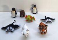 Lot Of 8 Mini  National Geographic Kids TIGER Frog Otter Manta-2 Penguin-2 Fox