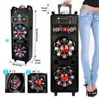 """1000 Watts Power PA Full Range Stereo Bluetooth Speaker with Dual 10"""" Subwoofer"""