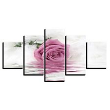 Beautiful Pink Rose Water 5 piece HD Poster Art Wall Home Decor Canvas Print