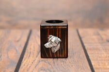 Jack Russel Terrier - candlestick with dog, wooden, high quality, Art Dog type 2