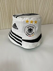 GERMANY BUCKET HAT FOOTBALL SOCCER hand made germany 2006 2008 home