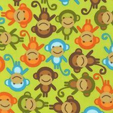 Cuarto gordo urbano It monos en Green Colchas de retazos de tela-Robert Kaufman
