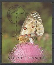 Papillons Saint Thomas et prince (36) bloc oblitéré