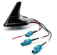 Dachantenne Autoantenne Shark für Audi VW ab 2004 FM GPS GSM schwarz hochglanz