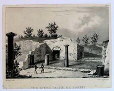 Lithographie d'Engelmann, Vue d'une partie de Pompeï