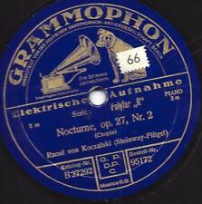 RAOUL VON KOCZALSKI Piano  spielt Chopin : Nocturne Op. 27 : Etude No.2