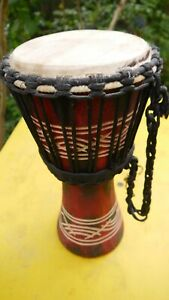 Bongo Trommel (aus Tropenholz & mit Tierhaut bespannt)