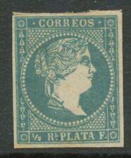 SPANISCH-WESTINDIEN 1857 Königin Isabella II. postfrisch ABART: Haarlocke offen