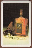 Playing Cards 1 Single Card Old White Horse LOGAN SCOTCH WHISKY Advertising Art