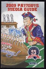 Phil Bissell Autographed 2009 New England Patriots 50th Anniversary Media Guide