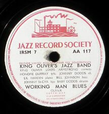 King Oliver's jazz band Riverside blues Working man blues 78 trs 78 RPM 10'' EX