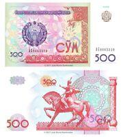 Uzbekistan 500 Sum 1999 P-81 Banknotes UNC