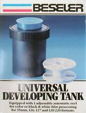 *NEW* Beseler Universal Developing Tanks Adjustable Reel 35mm127&120/220 Formats