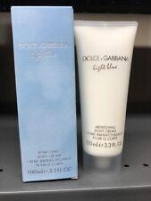 Dolce & Gabbana LIGHT BLUE 3.3oz Refreshing Body Cream NEW IN BOX