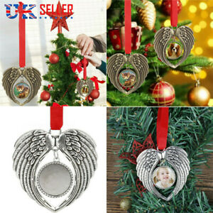 Christmas Tree Decoration In Memory Angel Wings Ornament Hanging Decor XMAS Gift