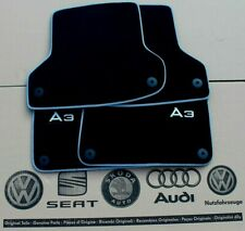 Audi A3 8P original Fußmatten vorne hinten Veloursmatten S3 Stoffmatten Logo