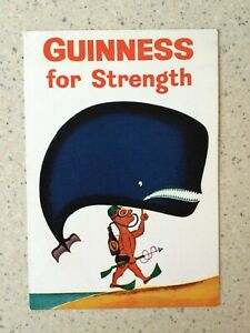 VINTAGE GUINNESS ADVERTISING WHALE POSTCARD DOLLARD DUBLIN G.A.1092/D UNUSED VGC