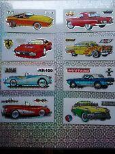 Muscle Car Vending Machine Prism 8 Stickers Lot (RARE/HTF/VTG)