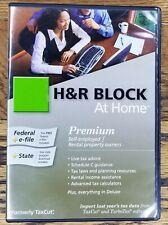 H&R Block at Home 2009 PREMIUM Tax Software