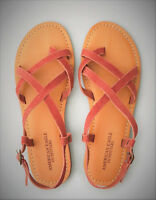 NWT American Eagle Outfitters Sandals Women's Sz 7 Suede Toe Strappy Sandal AEO