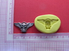 Skull with Wings Gothic Silicone Mold Cake Fondant Resin Clay Candy A972 Soap