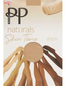 Pretty Polly Naturals Skin Tones  - Designed for ALL Skintones - 8 Denier Tights