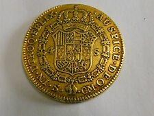 Pièce royale Espagnole de 4 escudos or Charles III  1787 Séville TB